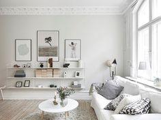 ■北欧の白くて素敵なリビングルーム。 : 北欧と、かもめ食堂にあこがれて。