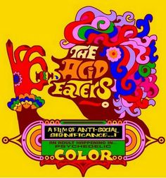 ☮ American Hippie Psychedelic Art ~ The Acid Eaters (1968)