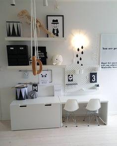Kinderhoekje - Ikea DIY - The best IKEA hacks all in one place Baby Decor, Kids Decor, Chambre Nolan, Ideas Dormitorios, Playroom Storage, Kid Desk, Toy Rooms, Baby Boy Rooms, Kids Corner
