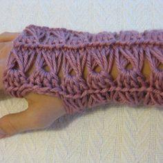 Crochet PATTERN Fingerless Gloves Broomstick by kickincrochet