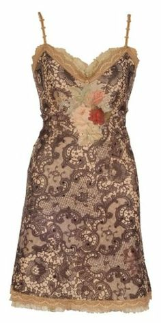 87a9426b32  734 Enchanting Mini Dress Created by Michal Negrin with Lace Like Pattern  and Victorian Style Floral