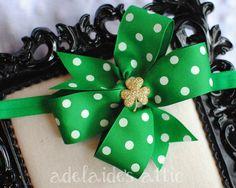 Shamrock Bow | St. Patrick's Day Baby Headband | St. Patrick's Day Bow