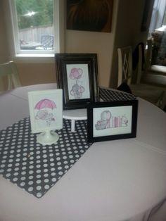 Pink and grey elephant art
