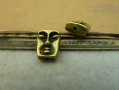 10pcs antique brass face spacer  A5105 by ministore on Etsy, $2.90