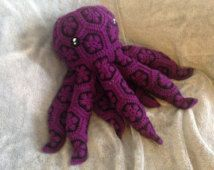 Crochet African Flower Octopus PATTERN