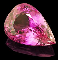 Kunzite is known for its strong pleochroism showing lighter and more intense coloring in different directions. #Gemstones #Kunzite