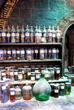 "[Open w/ Selah] The white haired ex Auror is surveying her immense collection of potions, potion books and ingredients. Preserved animal bits float in glowing liquid, turning slightly as she picks them up. She barely moves when the door opens. ""Yes?"""