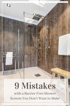 You need to know these 9 mistakes with a barrier free shower system and how to avoid them! Read here now | Innovate Building Solutions | #ShowerRemodel #BathroomInstall #BarrierFreeShower #ShowerSystem | Bathroom Remodel Cheap Barrier Free Shower Walk In Roll In Shower Ideas Roll In Shower No Door