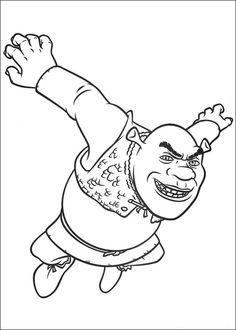Shrek Kleurplaten voor kinderen. Kleurplaat en afdrukken tekenen nº 47