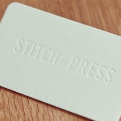 STITCH PRESS Business Card