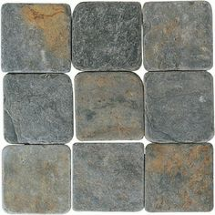 China Multicolor - Tumbled Slate by American Olean