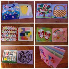 フェルトの仕掛け絵本 型紙完成 | shido-ricoのほほん子育て♪ハンドメイド日記 Cute Crafts, Diy And Crafts, Crafts For Kids, Sensory Book, Quiet Book Patterns, Busy Book, Felt Diy, Bookbinding, Cool Baby Stuff