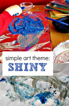 A simple art theme like shiny can inspire a fun creative session with kids