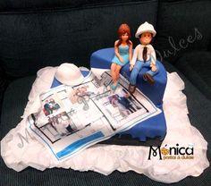 Torta para un Ingeniero Civil con detalles únicos en ella, visita Monica pastas y Dulces