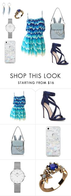 Look #6 by tosia-czujko on Polyvore featuring moda, Imagine by Vince Camuto, Chloé, Daniel Wellington and Skinnydip