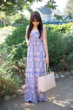 How to style a summer maxi dress sophiemaestyle.com