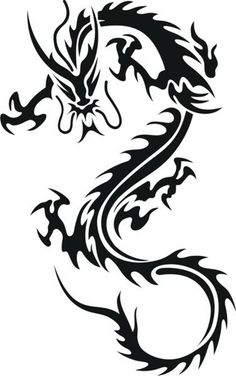 An easy first tattoo idea for men: Chinese dragon in tribal style. Tags: First, Easy Tribal Phoenix Tattoo, Tribal Dragon Tattoos, Dragon Tattoos For Men, Chinese Dragon Tattoos, Dragon Tattoo Designs, Tattoos For Guys, Chinese Dragon Symbol, Men Tattoos, Airbrush Tattoo
