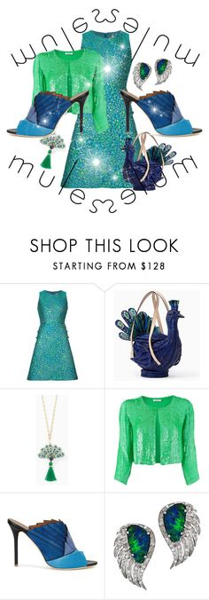 """Mules - Peacock's Feathers"" by giovanina-001 ❤ liked on Polyvore featuring Michael Kors, Kate Spade, P.A.R.O.S.H., Malone Souliers, Plukka and mules"