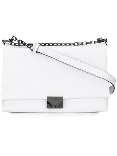 EMPORIO ARMANI Classic Shoulder Bag. #emporioarmani #bags #shoulder bags #leather #cotton #