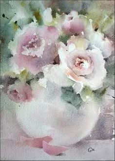 Roses - Original Watercolor Painting 10x7 inches on Etsy, $150.00