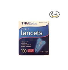 TRUEplus Sterile Lancets 28 gauge (Pack of 6) diabetes *** This is an Amazon Associate's Pin. Click the image for detailed description from the website.