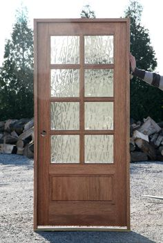 Awe-inspiring wide front doors - take a look at our piece for much more concepts! Wood French Doors Exterior, Craftsman Front Doors, Exterior Doors With Glass, Entry Doors With Glass, Exterior Front Doors, Glass Front Door, Sliding Glass Door, Glass Doors, Front Door Entrance