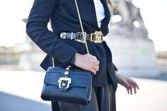Pin for Later: Proof the Prettiest Street Style Accessories Were at Paris Fashion Week Day 3 Paula Cademartori bag.