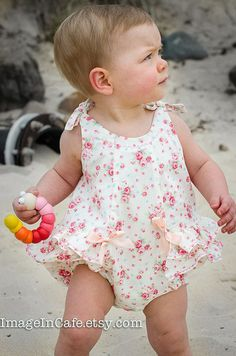 Rose Bud Romper PDF Sewing Pattern by Felicity by FelicityPatterns