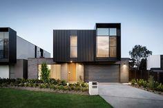 Best Ideas For Modern House Design : – Picture : – Description Kew Townhouse Designs, Duplex House Design, Modern House Design, House Cladding, Facade House, Minimalist House Design, Minimalist Architecture, Residential Architecture, Architecture Design