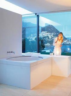 Salle de bains carrelage mosa que miroir fen tre for Casa miroir rond
