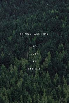 Things take time. So just be patient...