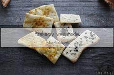 Wegańskie krakersy. Smoothies Vegan, Vegan Recipes, Vegan Meals, Bbq, Pizza, Bread, Cheese, Ethnic Recipes, Food