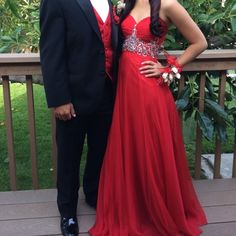 Strapless Red Prom Dress great condition, worn twice Dresses Strapless