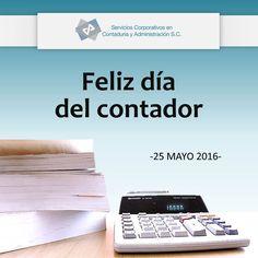 Felicitamos a todos los contadores públicos y de manera muy especial mandamos un fuerte abrazo a los contadores de nuestro despacho. ¡Feliz #DíaDelContador! #ContadoresPúblicos Servicios Corporativos en Contaduría y Administración