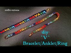 "⚜️ ""V"" Armband / Fußkettchen / Halsband / Ring Seed Bead Bracelets Tutorials, Beaded Bracelets Tutorial, Beaded Bracelet Patterns, Beading Tutorials, Jewelry Patterns, Seed Bead Jewelry, Seed Beads, Beaded Jewelry, Seashell Crafts"