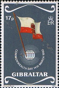 Gibraltar 1983 Commonwealth Day Fine Mint SG 489 Scott 445 Other European and British Commonwealth Stamps HERE! Royal Mail Stamps, Stamp Dealers, Letter Boxes, British Overseas Territories, Country Uk, Buy Stamps, Postage Stamp Art, Vintage Stamps, Commonwealth