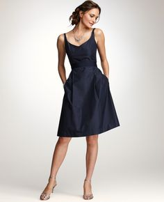Silk Taffeta V-Neck Bridesmaid Dress - again, really like this one too....
