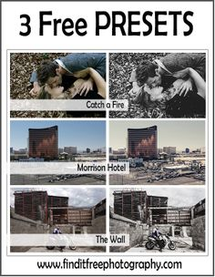 3 free Presets listed at Find it FREE Photography!