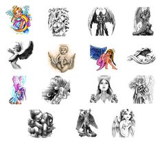 angel tattoos gallery ideas angel tattoos gallery ideas Love the baby wrapped in wings