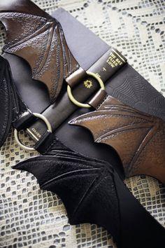 Bat Wings Tooled Leather Waist Sized Buckle Back Belt in Bourbon