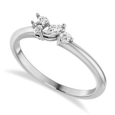 Simple Unique Bridal Wedding Jewelry Thin Dainty Minimalist Engagement Ring Wavy Ring 0.12ct Simulated White Diamond Promise Ring For Her