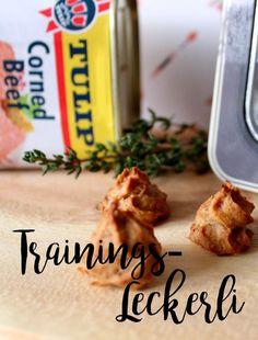 Rezept für Hunde - Trainingsleckerli aus Corned-Beef