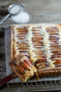 "Plum frangipane tart. ""Everyone needs an easy, impressive and drop-dead-delicious pastry recipe up their sleeve. Mine is the incredibly versatile frangipane tart."""