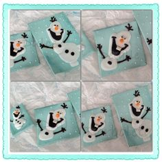 Olaf the snowman cookies