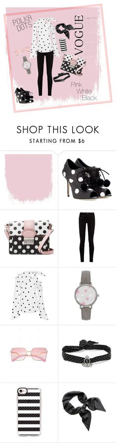 """""""polka dotka"""" by felr ❤ liked on Polyvore featuring Dolce&Gabbana, RED Valentino, Gucci, Monse, Yves Saint Laurent and Casetify"""