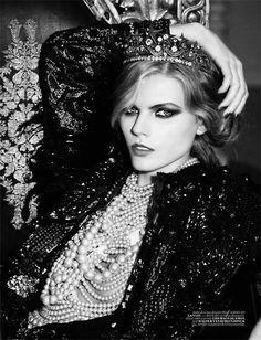 Maryna Linchuk photographed by Ellen von Unwerth for Vogue Turkey, December 2010