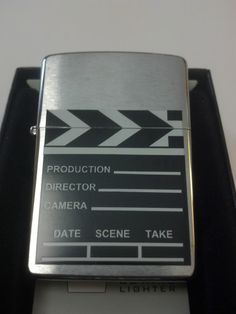 #28064 Movie Take Clapperboard Brushed Chrome Sealed Windproof Zippo Lighter