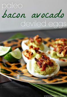 paleo bacon avocado deviled eggs