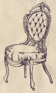 Charming Chair design (UT2113) from UrbanThreads.com