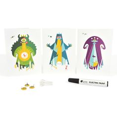 Flashing Greetings Card Kit - a fun and creative way for kids to learn about electonics. From artful-kids.com